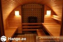 SAUNAMEISTER OÜ Saunaehitus, saunalava ehitus puidust saun leilisaunade ehitus saunaruum saunalava sauna valgustus