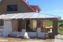 Auf Paigaldus OÜ Katusetööd, 50mm polükarbonaadist katus