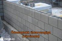 KONVENTO OÜ Müüritööd, Columbia plokk ümarvuugiga (värvimata)