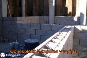KONVENTO OÜ KONVENTO, Columbia plokk V-kujulise vuugiga, müüritööd, müüride ladumine
