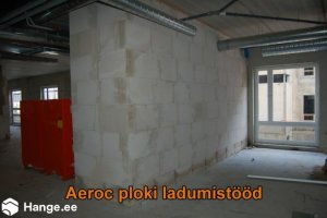 KONVENTO OÜ KONVENTO, Aeroc ploki ladumistööd, müüritööd, müüritööde teostamine