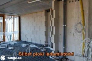 KONVENTO OÜ KONVENTO, Silbet ploki ladumistööd, müüritööd, plokkidest seinad