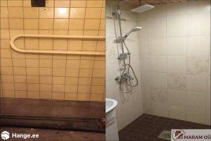 MARAM OÜ MARAM, vannitubade ümberehitus, kortermaja vannitoa plaatimine, pisirenonditööd
