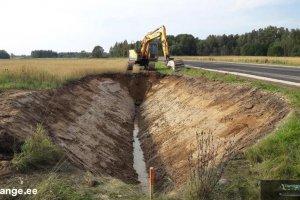 T&T REKTO OÜ T&T REKTO, kraavi kaevamine, kraavide kaevamine, kuivenduskraavide kaevamine