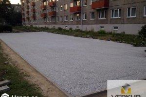 Verkur OÜ Verkur, Parkla ehitus, parkimisplatsi rajamine.