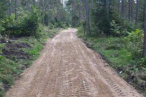Sissesõidutee looduslikust kruusast Saaremaal.jpg
